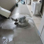 定期清掃ーポリッシャー床面洗浄